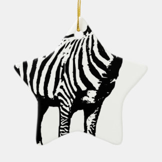 Zebra Staring Christmas Ornament