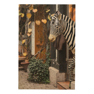 Zebra Statue In Store, Germany Wood Wall Decor