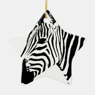 Zebra Stencil Christmas Ornament