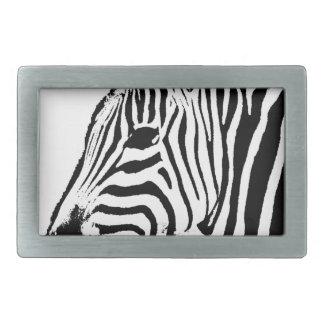 Zebra Stencil Rectangular Belt Buckle