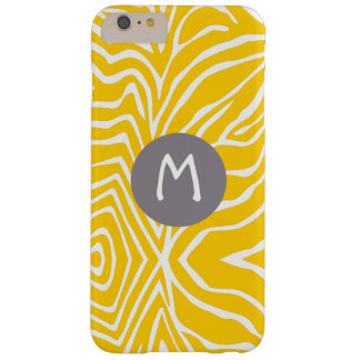 Zebra Stripe Any Color Personalize Monogram iPhone Barely There iPhone 6 Plus Case