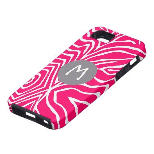 Zebra Stripe Any Color Personalize Monogram iPhone iPhone 5 Cases
