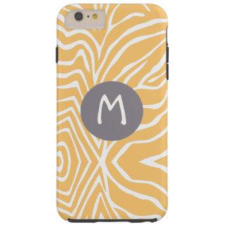 Zebra Stripe Any Color Personalize Monogram iPhone Tough iPhone 6 Plus Case