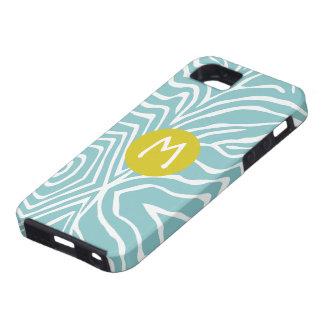 Zebra Stripe Any Color Personalize Monogram iPhone iPhone 5 Case