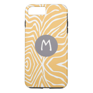 Zebra Stripe Any Color Personalize Monogram iPhone iPhone 7 Plus Case