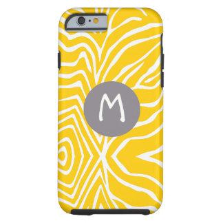 Zebra Stripe Any Color Personalize Monogram iPhone Tough iPhone 6 Case