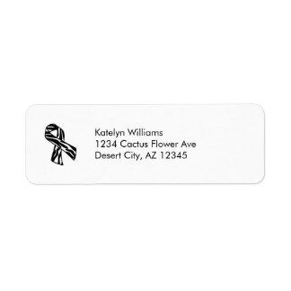 Zebra Stripe Awareness Ribbon Address Avery Label Return Address Label