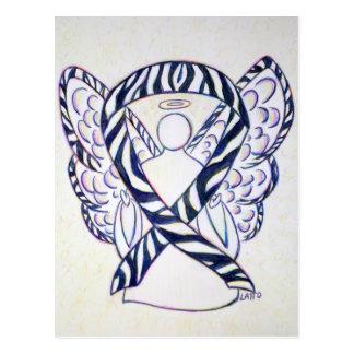 Zebra Stripe Awareness Ribbon Angel Postcards