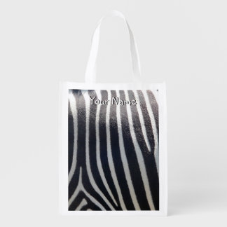 Zebra Stripe Black and White Safari Market Totes
