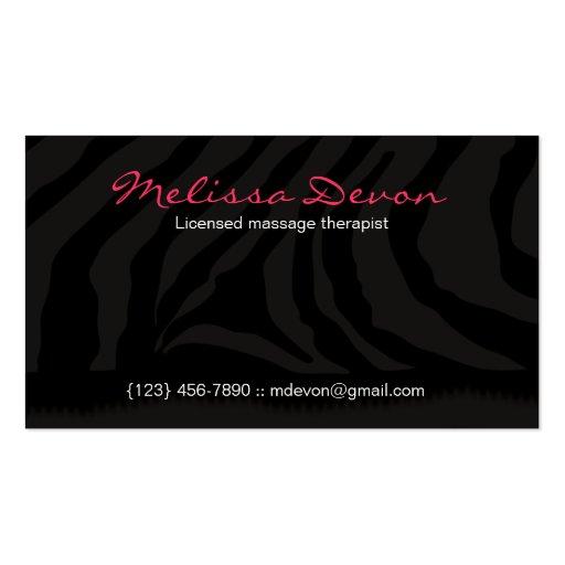 ZEBRA STRIPE BUSINESS CARDS