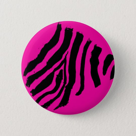 Zebra Stripe Button (Magenta Rockstar)