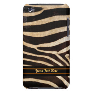 Zebra Stripe iPod Touch Case-Mate - Personalize Barely There iPod Case