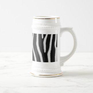 Zebra Stripe Pattern Beer Stein Mugs