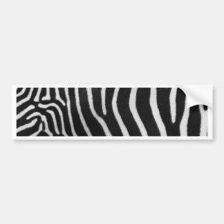 Zebra Stripe Pattern Bumper Sticker