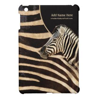 Zebra Stripe Portrait and Fur - Customize iPad Mini Cases