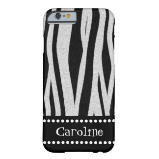 """Zebra Stripe Print """"Add Your Name"""" Barely There iPhone 6 Case"""