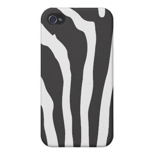 Zebra Stripe Print Pattern - Custom iPhone Case iPhone 4/4S Cover