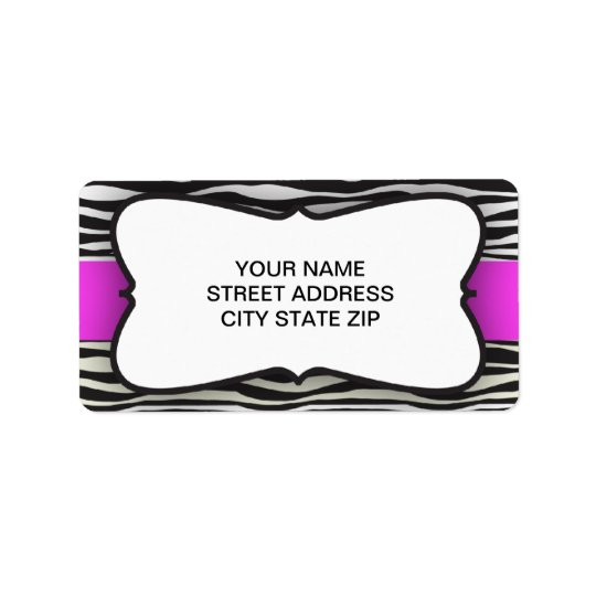 Zebra Stripe Return Address Label
