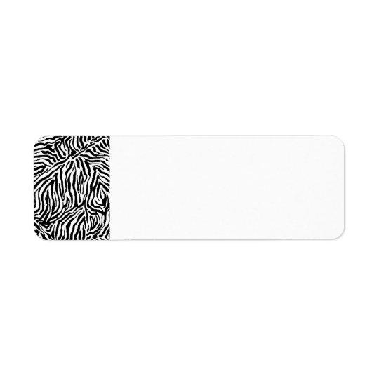 Zebra Stripe Swirls Pattern backgrounds fashion Return Address