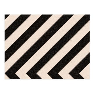 Zebra Striped Chevron Pattern Postcards