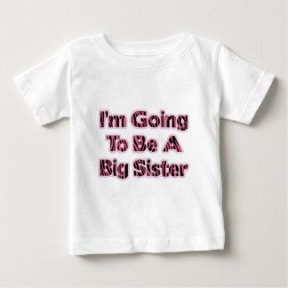 Zebra Striped I'm Going To Be A Big Sister Shirts