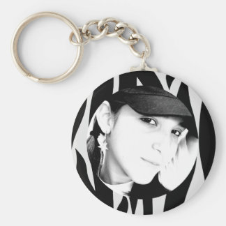 Zebra Striped Personalized Photo Keychain
