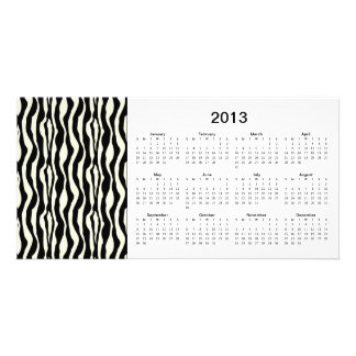Zebra Stripes 2013 Calendar Photo Card
