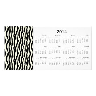 Zebra Stripes 2014 Calendar Photo Card