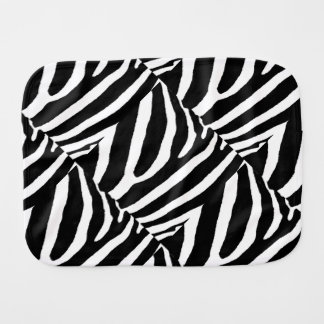 ZEBRA STRIPES (a Black & White design) Burp Cloth