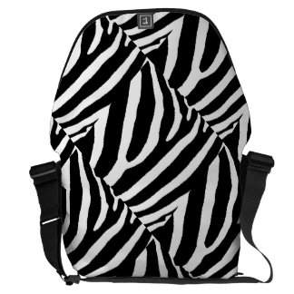 ZEBRA STRIPES (a Black & White design) Courier Bags