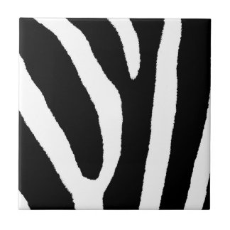 ZEBRA STRIPES (a Black & White design) Tile