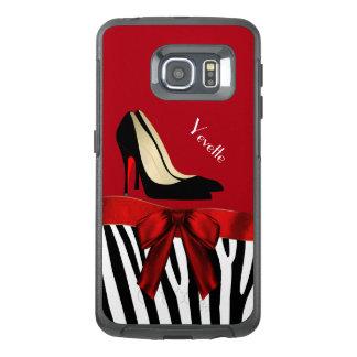 Zebra Stripes and Heels Otterbox Samsung S6 Edge