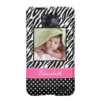 Zebra Stripes and Polka Dots Custom Photo Samsung Galaxy SII Cases