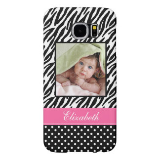 Zebra Stripes and Polka Dots Custom Photo Samsung Galaxy S6 Cases