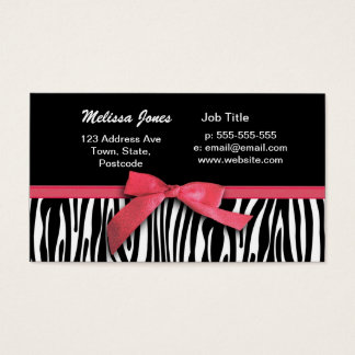 Zebra stripes and red ribbon graphic