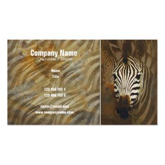 Zebra stripes art profile cards - customizable business cards