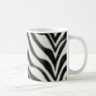zebra stripes basic white mug