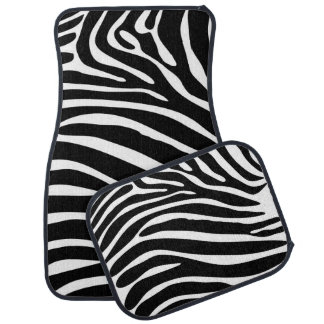 Zebra Stripes Car Mat Set