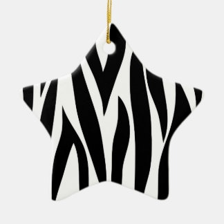 Zebra stripes christmas ornament