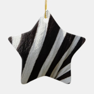 Zebra Stripes Christmas Ornament