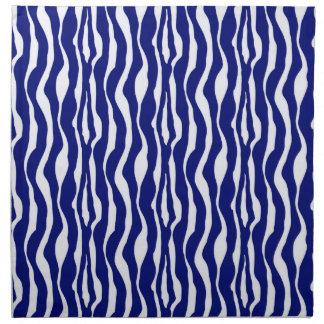 Zebra stripes - Dark Cobalt Blue and White Napkin