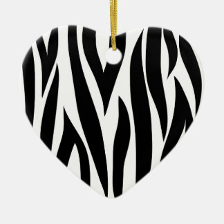 Zebra stripes - Heart Ornamnet Christmas Ornament