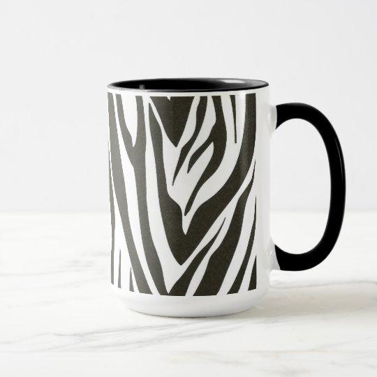 Zebra stripes in black and white mug