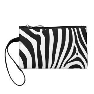 Zebra stripes in black and white patern design change purse