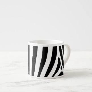 Zebra stripes in black and white pattern design espresso mug