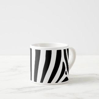 Zebra stripes in black and white pattern design espresso mug