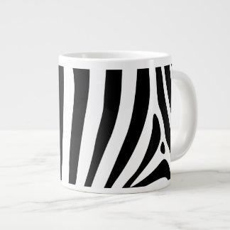 Zebra stripes in black and white pattern design jumbo mug