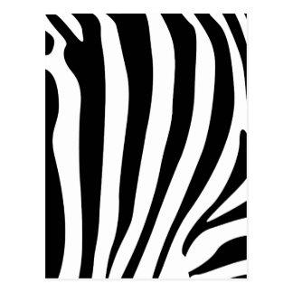 Zebra stripes in black and white pattern post cards