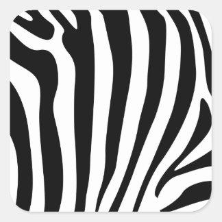 Zebra stripes in black and white pattern sticker