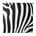 Zebra Stripes in black and white pattern Small Square Tile